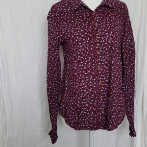 Anthropologie Maeve Floral Button Down